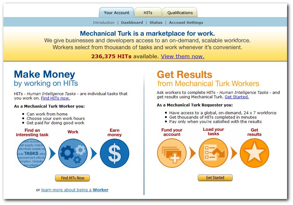 Amazon Mechanical Turk Jobs